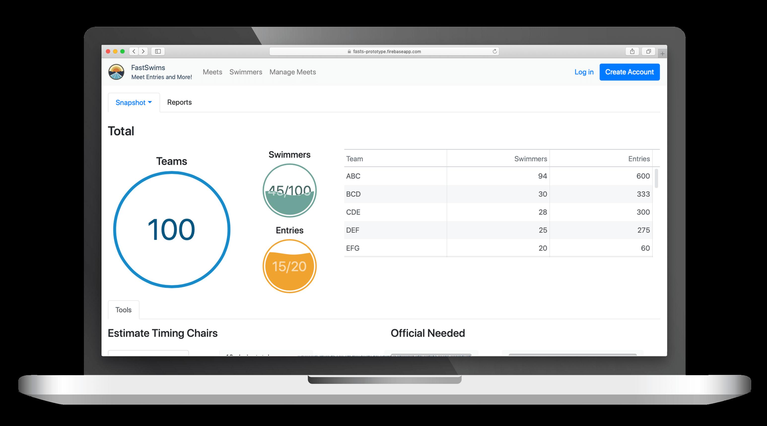 React prototyp platformy na správu súťaží | portfolio položka