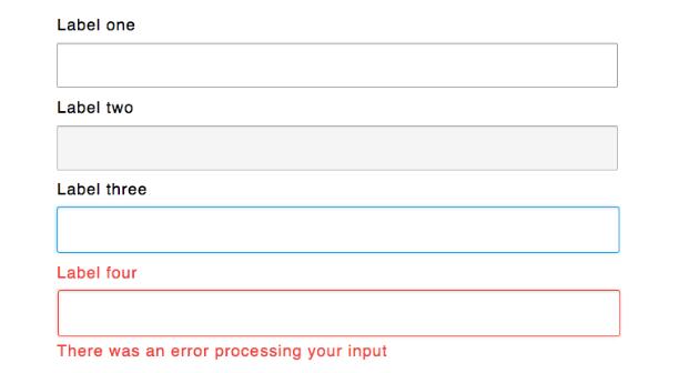 form input states