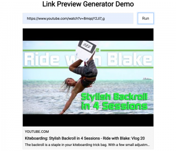 generating link preview