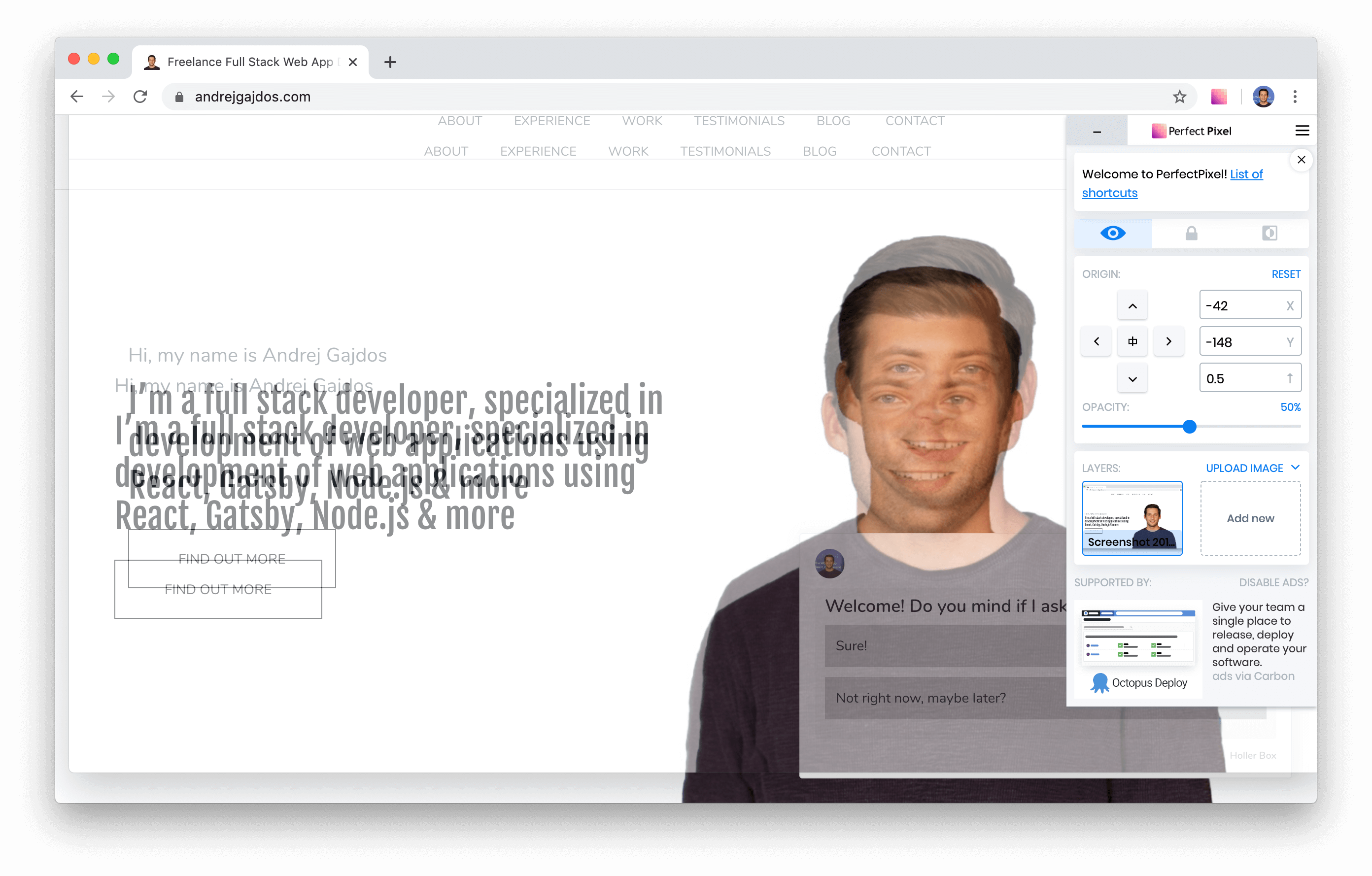 perfect pixel chrome extension